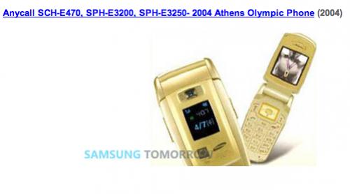 Samsung Gold Handys 2004