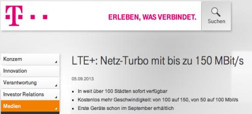 Telekom LTE Turbon Screenshot