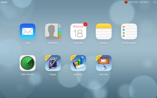 iCloud.com iOS 7 Design