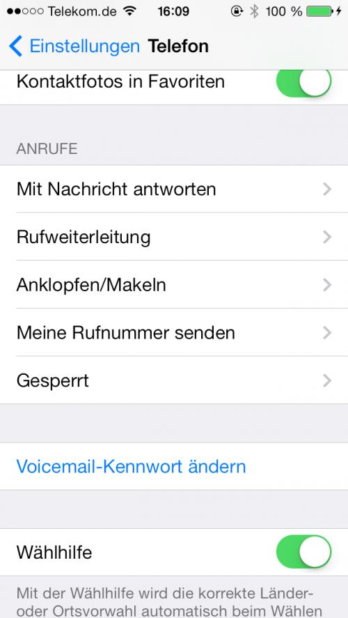 iOS 7 Anrufer sperren 1