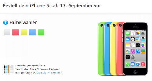 iPhone 5C Ansicht Apple Store