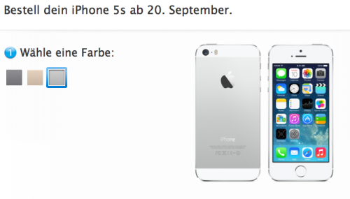 iPhone 5S Ansicht Store