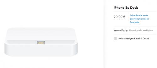 iPhone 5S Dock Apple