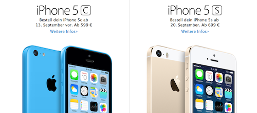 iPhone 5S versus iPhone 5C