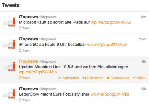 iTopnews auf Twitter