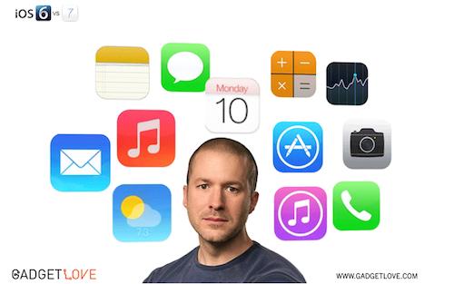 von iOS 6 zu iOS 7 GIF gadgetlove.com