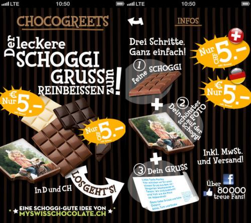 Chocogreets Screen1