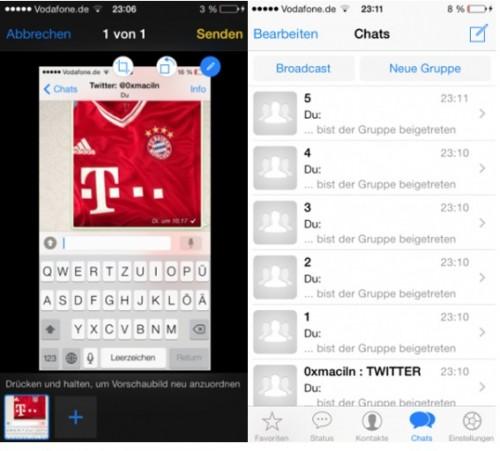 HackiPhone WhatsApp iOS 7 Bild 2