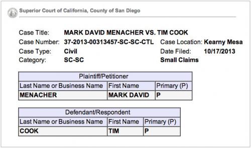 Klage Tim Cook appleinsider.com