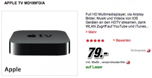 Media Markt Apple TV Angebot