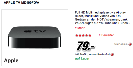 ipad ipod apple tv media markt mit guten rabatten. Black Bedroom Furniture Sets. Home Design Ideas