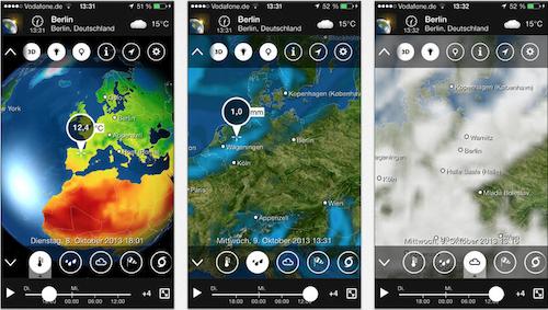 Meteo Earth iPhone Galerie