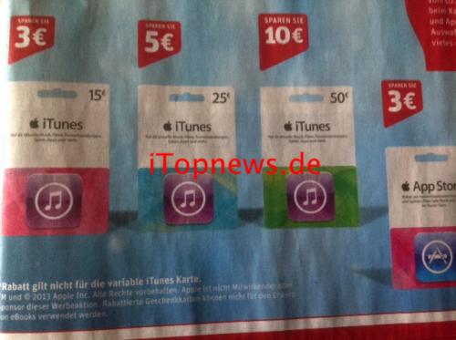 Rewe iTunes Karten Angelika