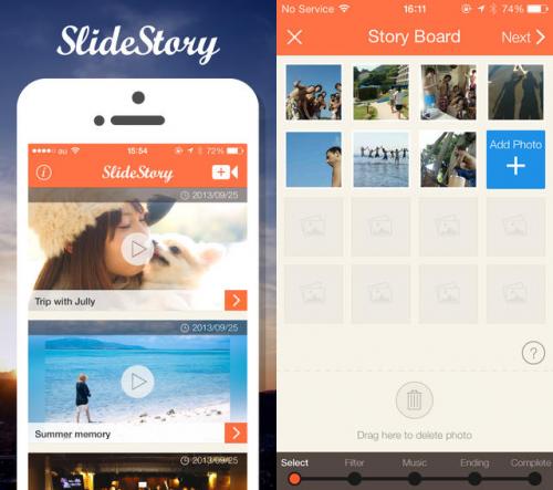 SlideStory Screen1