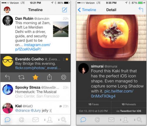 Tweetbot 3.0 Ansicht