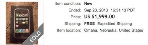 ebay Auktion 1. iPhone tuaw.com