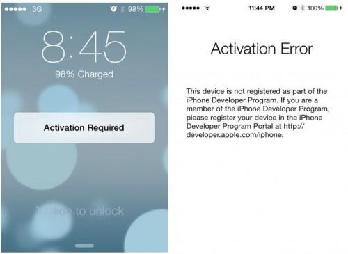 iOS 7 Abgelaufen Brick