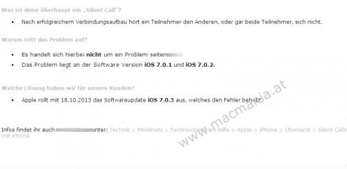 iOS 7.0.3 Memo macmania.at