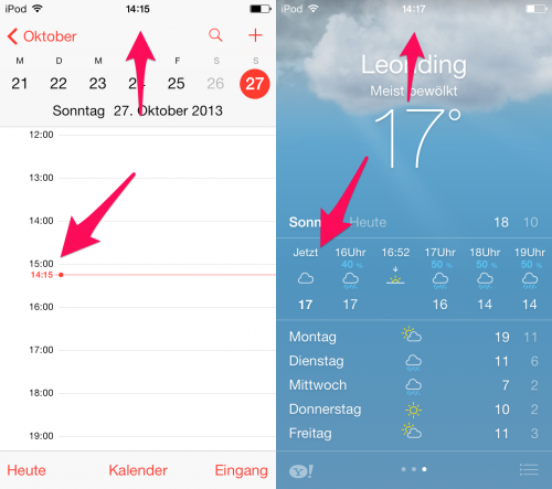 iOS Zeitumstellung