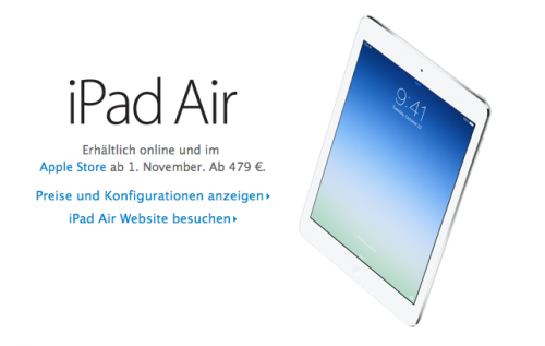 iPad Air im Online Store