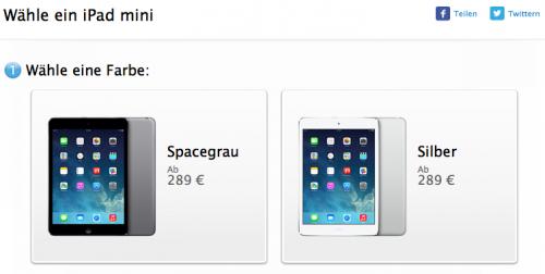 iPad mini 1. Gen in space-grau silber-weiss