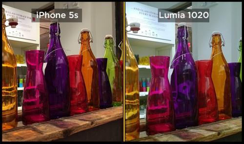 iPhone 5s lumia 1020 foto1