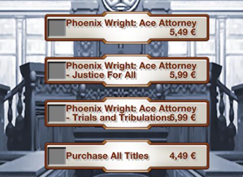 Ace Attorney Rabatt
