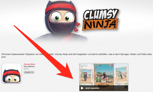 Clumsy Ninja Video Vorschau