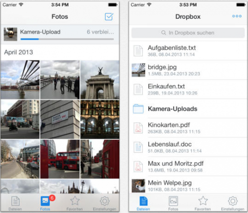 Dropbox iOS 7 Look