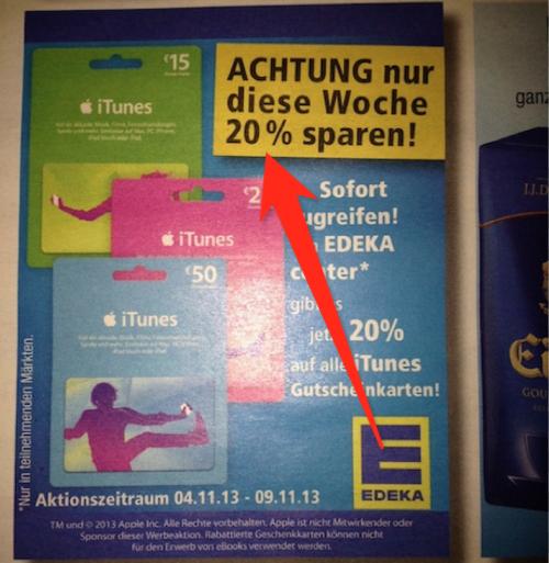 Edeka iTunes Karten Bernd K.