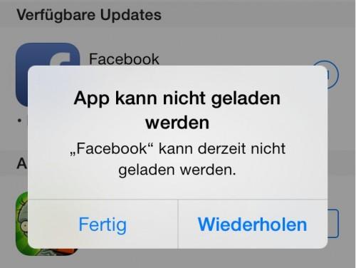 Facebook Fehlermeldung 6.7.1 Bernd
