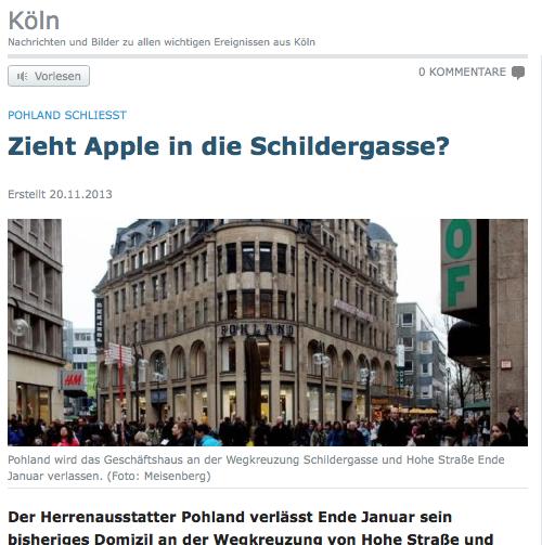 Koeln Apple Store Geruecht Koelnische Rundschau