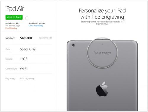 Store iPad App Ansicht