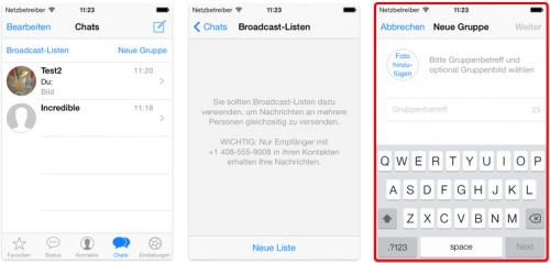 WhatsApp neue Version iOS 7