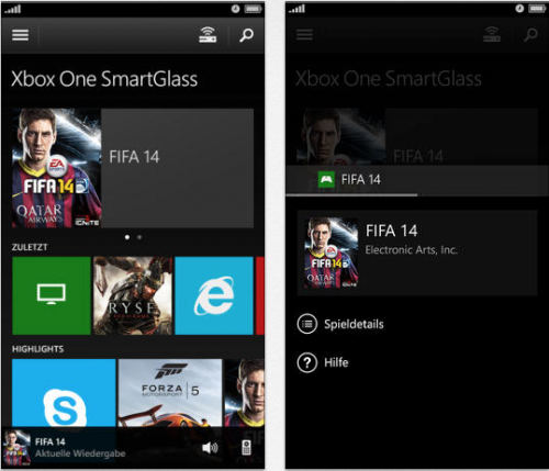 Xbox One Smart Glass