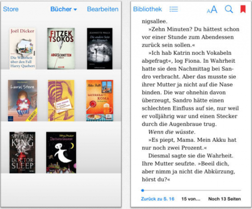 iBooks neue Ansicht