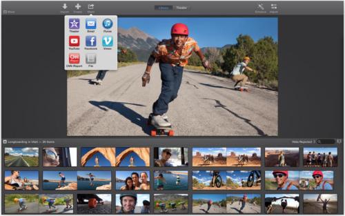 iMovie Ansicht Mac
