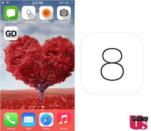 iOS 8 Ansicht Studie
