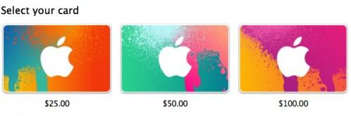 iTunes Karten Optik USA
