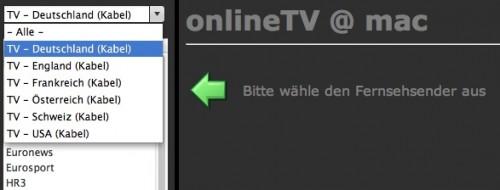 online TV Ansicht