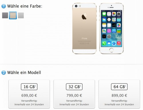 Apple Online Store iPhone 5S