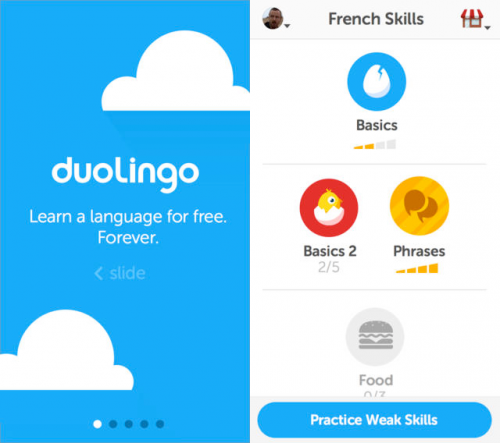 Duolinguo screen1