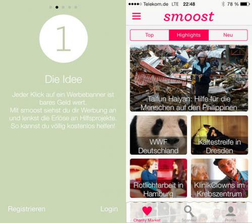 Smoost - kostenlos helfen screen1