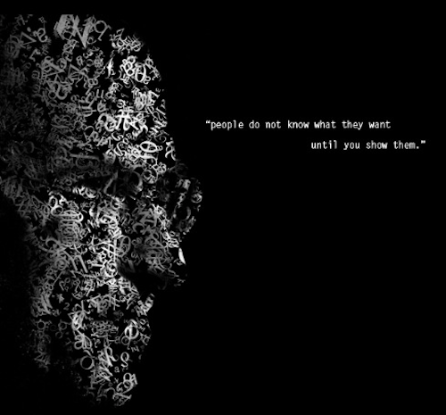 Steve Jobs Wallpaper Ansicht