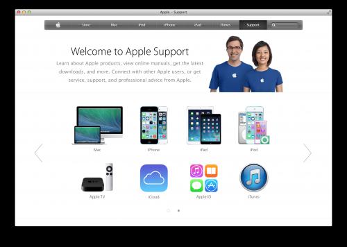 apple support seite neu