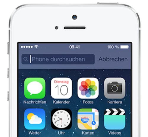 iOS 7 Spotlight neu