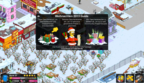 simpsons weihnachten update 2013