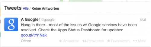 Google Problem Twitter