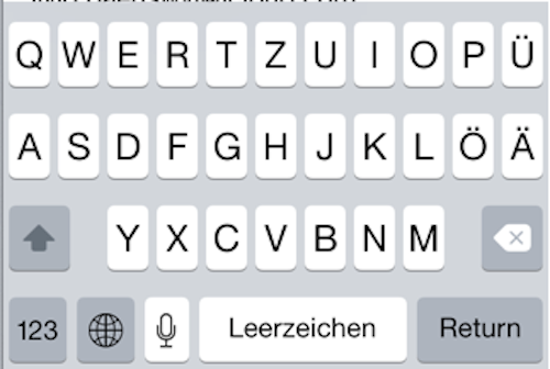 Tastatur iOS 7.1 Beta 3