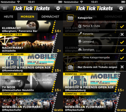 TickTickTickets Screen1
